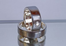 """Mokume-Gane Ring: 2 Trauringe """"Lifestyle"""""""