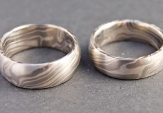 "Mokume-Gane Ring: 2 Trauringe ""Understatement"""