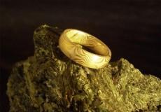 Mokume-Gane Ring: Gold / Silber