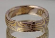 Mokume-Gane Ring: Herren Ring