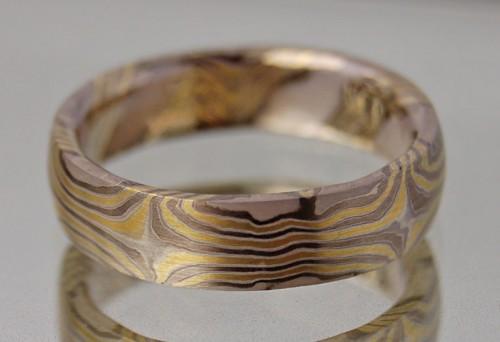 Herrenring  Mokume-Gane Ring: Herren Ring | Traumring Schmiede