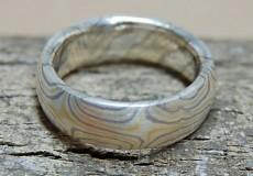 Mokume-Gane Ring:  Kreuzmuster