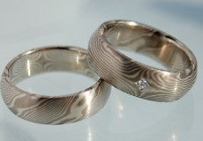Princess Mokume Gane Ring mit Stein