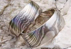 Mokume Gane Silber 925 und Palladium 500